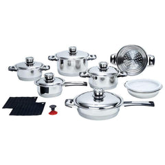Chefs Secret 16pc 7-ply, High-quality, Heavy-gauge Stainless Steel Cookware Set