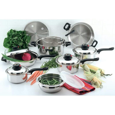 Picture of Chefs Secret 15pc 12-element T304 Stainless Steel Cookware