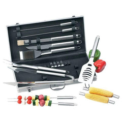Chefmaster 19pc All Stainless Steel Barbeque Tool Set- Pc Stnlss Stl Bbq Set