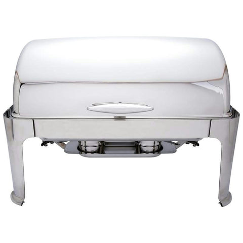Picture of Maxam Heavy-duty Stainless Steel Rectangular Chafing Dish With Roll Top For Professional Use