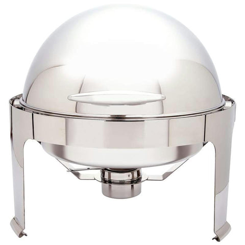 Picture of Maxam Heavy-duty Stainless Steel Round Chafing Dish With Roll Top For Professional Use