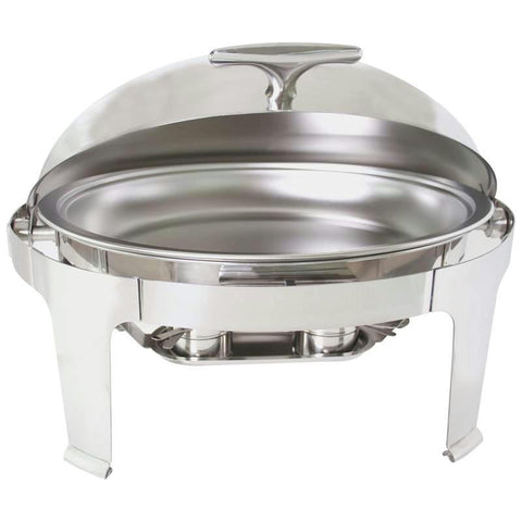 Picture of Maxam Heavy-duty Stainless Steel Oval Chafing Dish With Roll Top For Professional Use