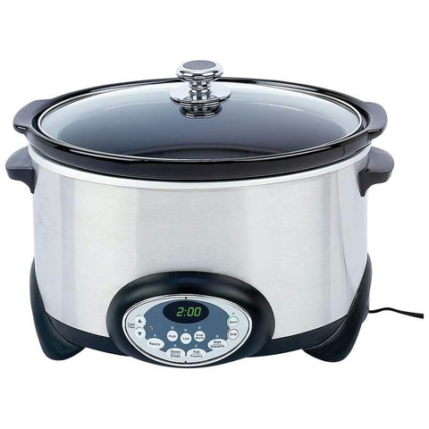 Picture of Precise Heat 6qt (5.7l) Stainless Steel Slow Cooker- Ceramicliner