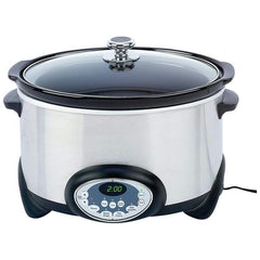 Precise Heat 6qt (5.7l) Stainless Steel Slow Cooker- Ceramicliner