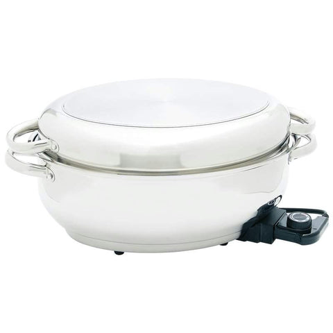 "Picture of Maxam 15"" Electric Roaster With Dome Cover And Tube Handles"