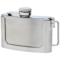 Maxam 3oz Stainless Steel Belt Buckle Flask