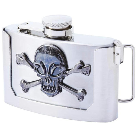 Picture of Maxam 3oz Stainless Steel Belt Buckle Flask