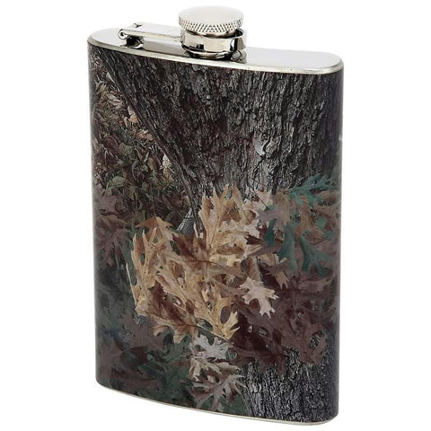 Picture of Maxam 8oz Stainless Steel Flask With Camouflage Wrap