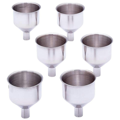 Picture of Maxam 6pc Large Stainless Steel Flask Funnel Set