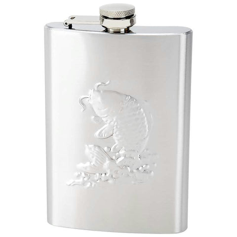 Picture of Maxam Embossed 8oz Stainless Steel Flask
