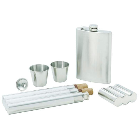 Picture of Maxam 5pc Stainless Steel Flask Gift Set