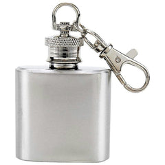 Maxam 1oz Stainless Steel Keychain Flask