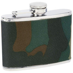 Maxam 4oz Stainless Steel Flask With Camouflage Wrap