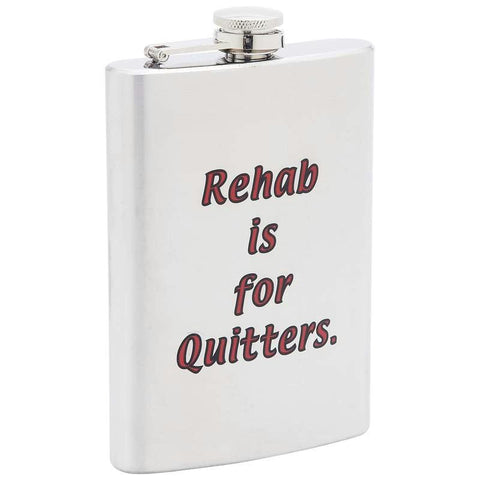 Picture of Maxam 8oz Stainless Steel Flask- Rehab