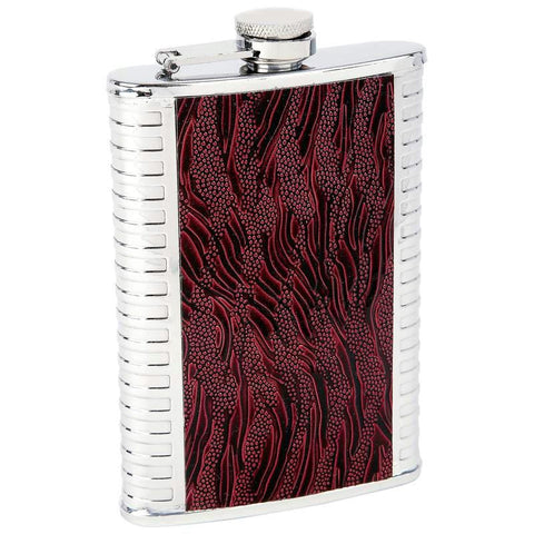 Picture of Maxam 8oz Stainless Steel Flask With Faux Leather Inlays