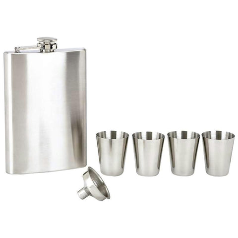 Picture of Maxam 6pc Stainless Steel Flask Set