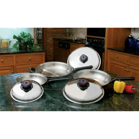 Picture of Precise Heat 6pc 12-element T304 Stainless Steel Skillet Set