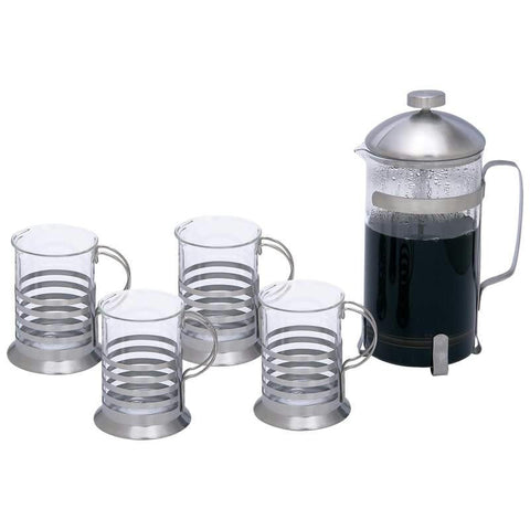 Picture of Wyndham House 1.06qt (1l) French Press Coffee/ Tea Set- 5pc Set
