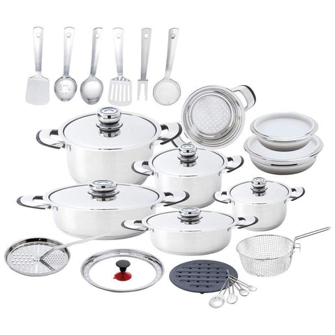 Picture of Chefs Secret 33pc Heavy-gauge Stainless Steel Cookware Set With Large Pans