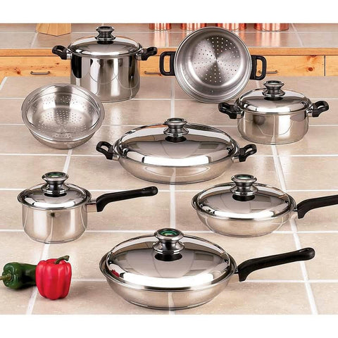 Picture of Chefs Secret 14pc 12-element Cookware Set With Thermo Control Knobs