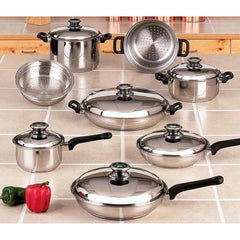 Chefs Secret 14pc 12-element Cookware Set With Thermo Control Knobs
