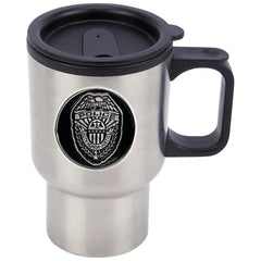 Maxam 14oz Stainless Steel Travel Mug With Police Badge Medallion