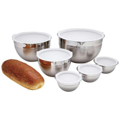 Chefs Secret 12pc T304 Stainless Steel Mixing Bowl Set
