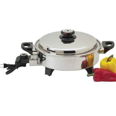 Picture of Precise Heat 3.5qt T304 Stainless Steel Oil Core Skillet