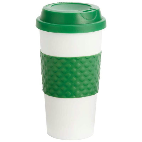 Picture of Wyndham House 16oz Tumbler With Green Wrap And Lid- Wrap