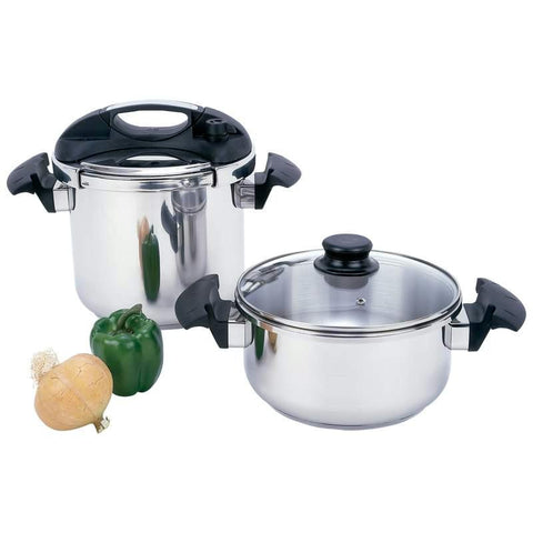 Picture of Precise Heat 4pc T304 Stainless Steel Pressure Cooker Set