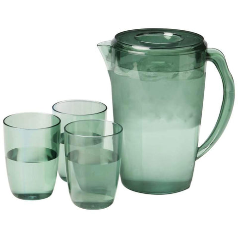 Picture of Lacuisine 4pc Covered 2.3qt Pitcher And Cup Set- 1/4 Quart Pitcher Cup St