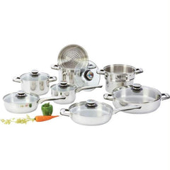 Chefs Secret 14pc Heavy-gauge Stainless Steel Cookware Set