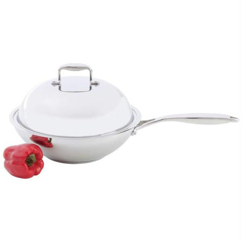 Picture of Chefs Secret T304 Stainless Steel Stir-fry Pan With Dome Cover- Fry Pan W Dome Lid