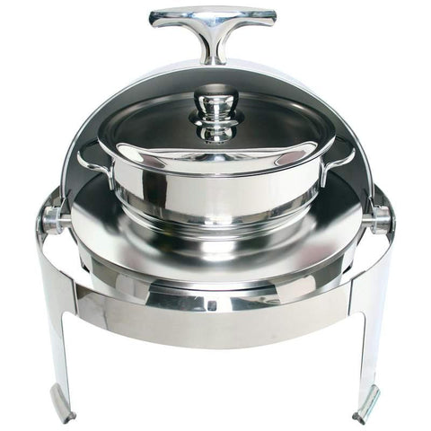 Picture of Maxam Heavy-duty Stainless Steel Round Soup Chafing Dish With Roll Top For Professional Use