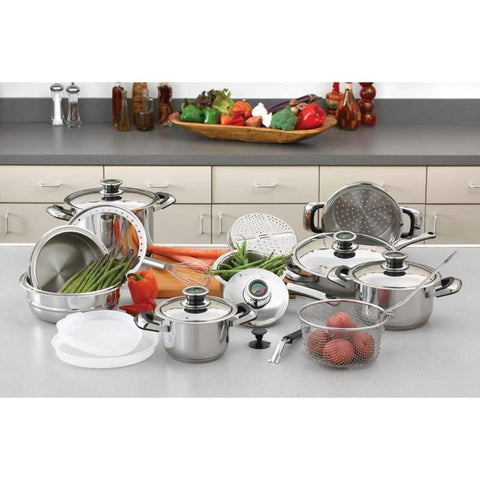 "Picture of Chefs Secret 22pc 12-element Super Set With High-quality Stainless Steel And Extra Large 11"" Frypan"