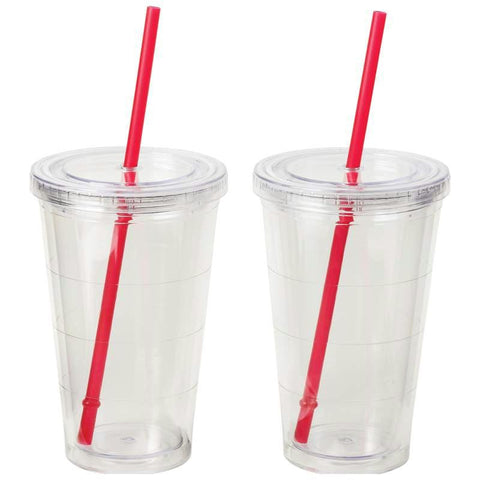 Picture of Maxam 2pc Double Wall 16oz Clear Tumbler Set- 2pc