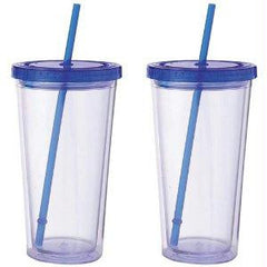 Maxam 2pc 20oz Double Wall Clear Tumbler Set- 2pc