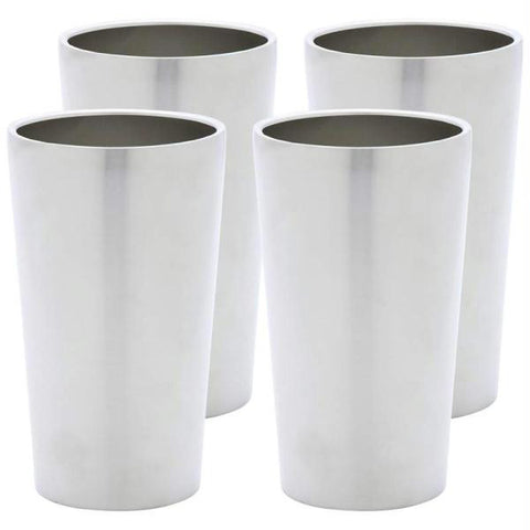 Picture of Maxam Stainless Steel 4pc Double Wall 13oz Tumbler Set- Wall Ss Tumbler