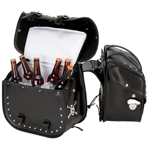 Picture of Beer Bags 4pc Studded Motorcycle Saddlebag Cooler Set