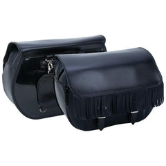 Diamond Plate Heavy-duty Waterproof Pvc Fringed Motorcycle Saddlebags
