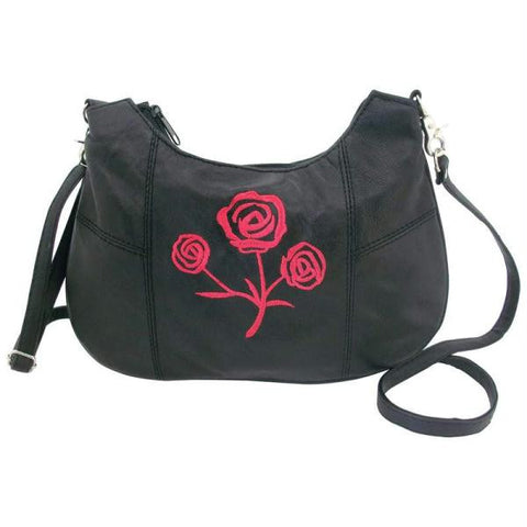 Picture of Diamond Plate Solid Genuine Leather Rose Purse