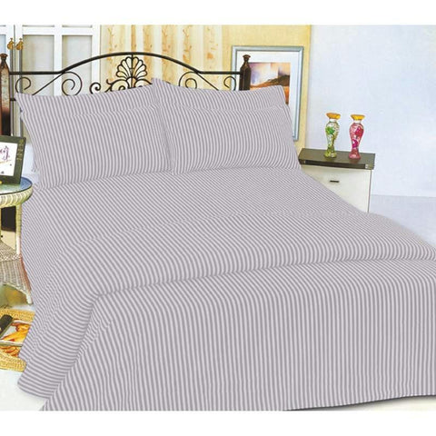 Picture of Wyndham House Microfiber Queen Size Striped Sheet Set- 12 Set
