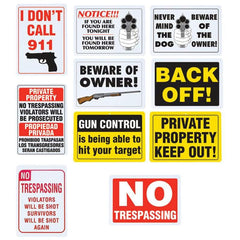 Diamond Plate 10pc Sign Set