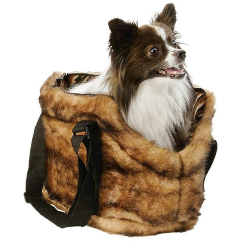 Picture of Maxam Pet Club Faux Mink Pet Carrying Bag