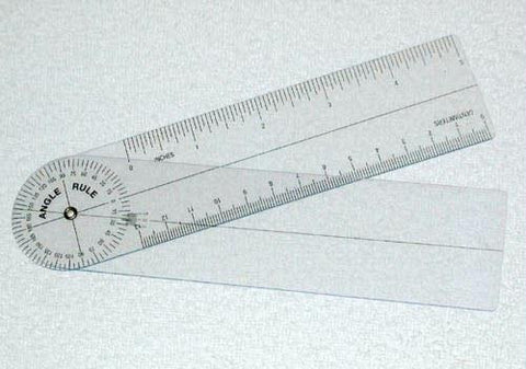 Picture of Plastic Angle Rule Goniometer 7   360 Degrees