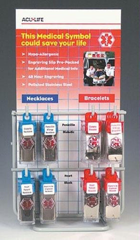 Picture of Medical Identification Jewelry 24pc  with Display Rack