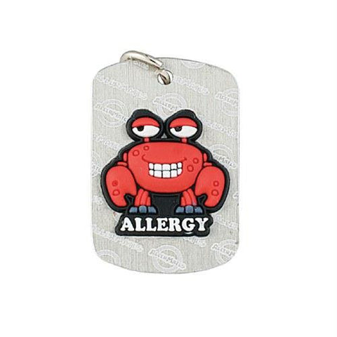 Picture of AllerMates Dog Tags Crabby Shellfish Allergy