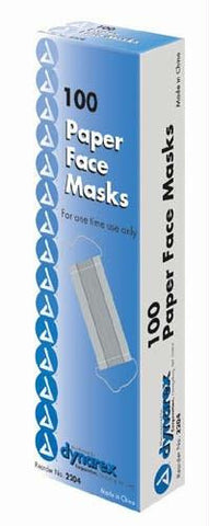 Picture of Paper Face Masks Bx/100