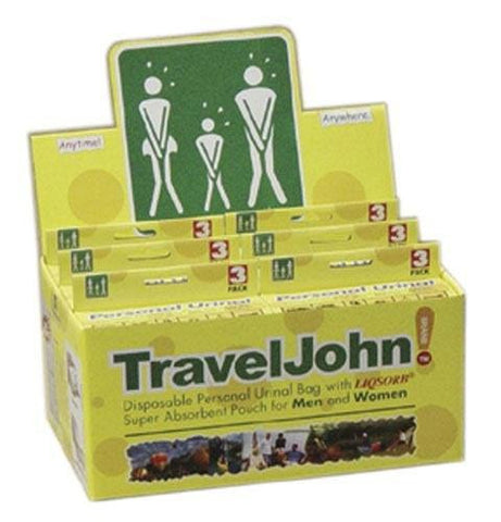 Picture of Travel John Disp Urinary Pouch Display (6-3 Packs)