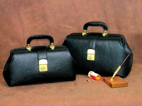 Picture of Intern/Student Physician Bag 16  Black Leather